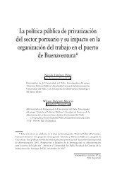 La política pública de privatización del sector portuario y su impacto ...
