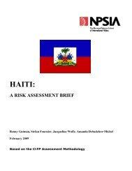 Haiti A Risk Assessment Brief 2009 - Www3.carleton.ca