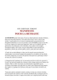 MANIFESTE POUR LA RETRAITE - CGT Services publics