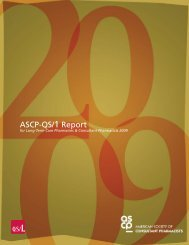 ASCP-QS/1 Report - American Society of Consultant Pharmacists