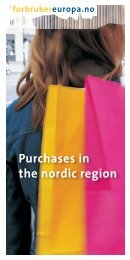 Purchases in the nordic region
