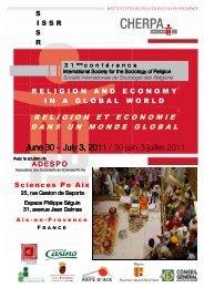 Programme de la conférence - Sciences Po Aix