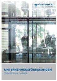 ihr partner für investitionsvorhaben im ausland - Volksbank AG