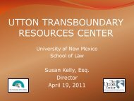 Community Growth and Land Use - Utton Transboundary Resources ...