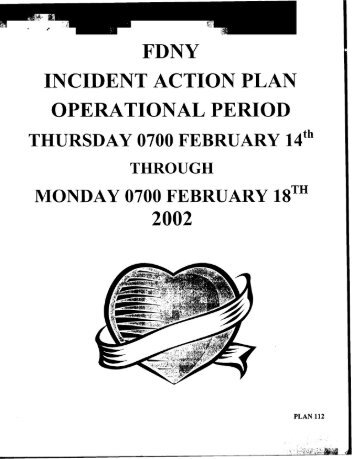 Incident Action Plan OpeL Tional Period February