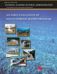 an early evaluation of noaa's habitat matrix program - NOAA Habitat ...