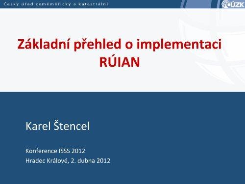 Základní přehled o implementaci RÚIAN - Správa základních registrů