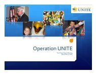 Operation Unite - PDMP Center of Excellence