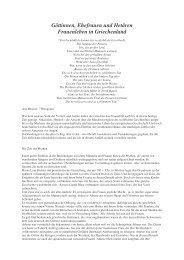 Göttinnen, Ehefrauen und Hetären Frauenleben in ... - Light-Edition