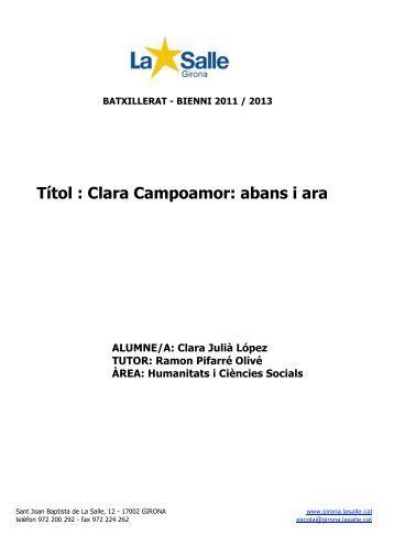 Títol : Clara Campoamor: abans i ara - Premis Universitat de Vic als ...