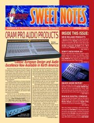 ORAM PRO AUDIO PRODUCTS NEW ROLAND ... - Sweetwater.com