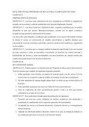 reglamento del programa de becas para culminacion de tesis