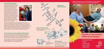 A guide to our services at the Peace Hospice