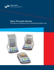 Pinnacle Series Balances - Denver Instrument