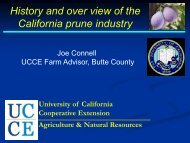 History and over view of the California prune ... - Tehama County