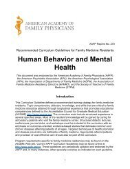 Recommended Curriculum Guidelines for Family Medicine Residents