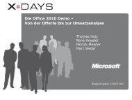 Die Office 2010 Demo – Von der Offerte bis zur ... - X-Days
