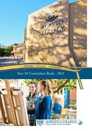 Year 10 Curriculum Book - 2013 - Loreto College