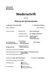 Protokoll vom 9.11.2009 (81 KB) - .PDF - Natters