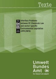 Interface Problems between EC Chemicals Law and sector-specific ...