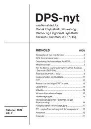 DPS-nyt - Dansk Psykiatrisk Selskab