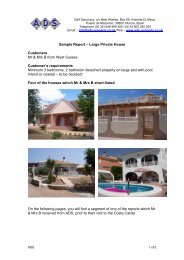 Sample Report – Large Private House Customers Mr ... - ADS-Property