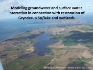 Modeling groundwater and surface water interaction in connection ...