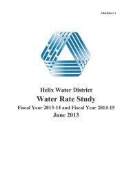 Water Rate Study (2013-14, 2014-15) - Helix Water District