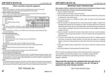 dtr 1hm 1 user guide pdf nec ux5000 rh yumpu com NEC UX5000 Headset NEC Conference Phone