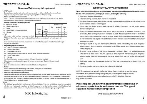 DTR 1HM 1 User Guide PDF NEC UX5000