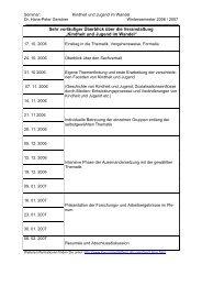 Terminplan und ausgewählte Literatur