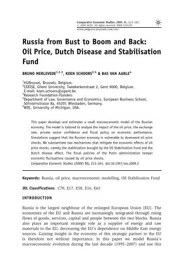 Venezuela's Case of Dutch Disease: Cursed by Oil