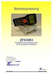 Betriebsanleitung ZF5/HR3 - cT Elektronik