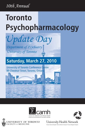 Psychopharmacology Update Day - CEPD University of Toronto