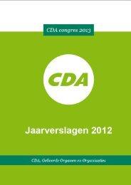 Jaarverslagen 2012 - CDA