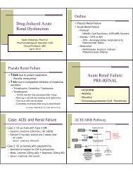 Drug-Induced Acute Renal Dysfunction Acute Renal Failure: PRE ...