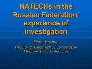 Natechs in the Russian Federation - Nexus-idrim.net