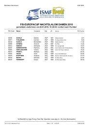 FIS-EUROPACUP NACHTSLALOM DAMEN 2010 - Melchsee-Frutt