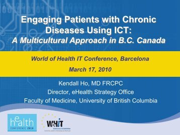 Engaging Patients with Chronic Diseases Using ... - World of Health IT