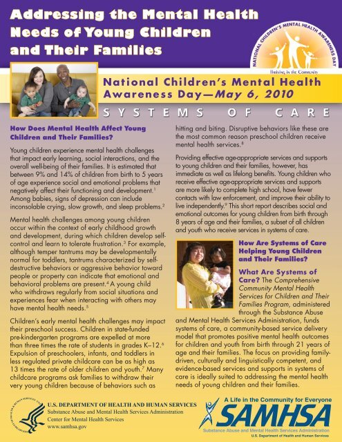 Addressing the Mental Health Needs of Young Children and Their ...