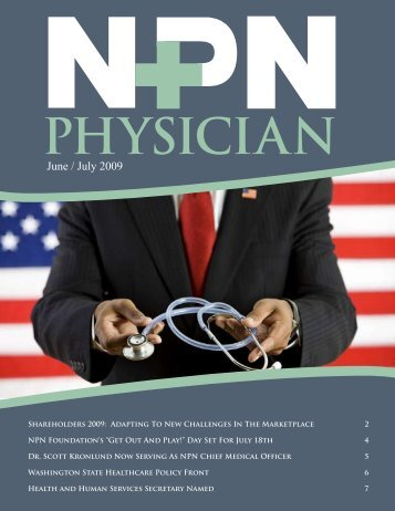 June / July 2009 - Northwest Physicians Network