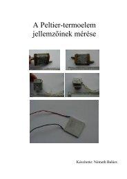A Peltier-termoelem jellemzőinek mérése - mono.eik.bme.hu