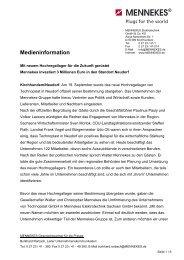MENNEKES Medieninformation - Eröffnung Hochregallager am ...