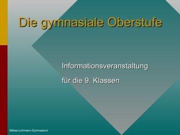 Die gymnasiale Oberstufe - Niklas-Luhmann-Gymnasium