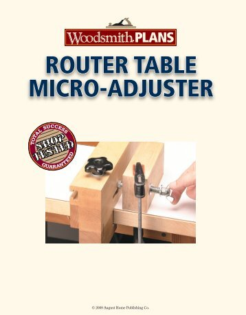 Router table sled woodsmith shop router table micro adjuster woodsmith shop greentooth Gallery