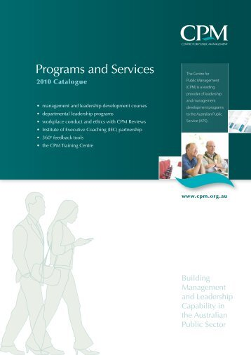 Programs and Services - CPM