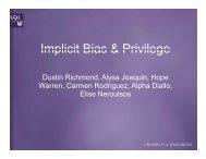 Implicit Bias & Privilege