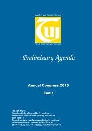 Preliminary Agenda 2010 - TUI