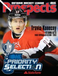 2014 OHL Priority Selection Information Guide