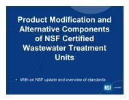 Product Modification and Alternative Components of NSF Certified ...
